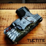 TucTite IWB Holster in Kryptek Thyphon with Blood Red Rivets