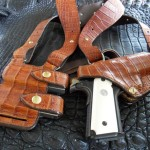 Andrews Custom Leather Crocodile Monarch Rig