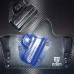 Blue Carbon Fiber Cloud Tuck Hybrid Holster