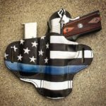 Stirn Holsters Thin Blue Line Leather Holster