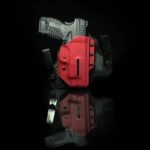 Black Arch Holsters Protos-M Holster with Firetruck Red Kydex