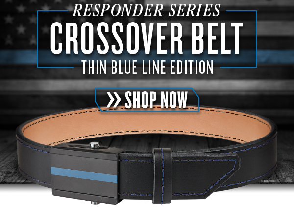 CrossBreed Holsters Thin Blue Line Edition Crossover Gun Belt