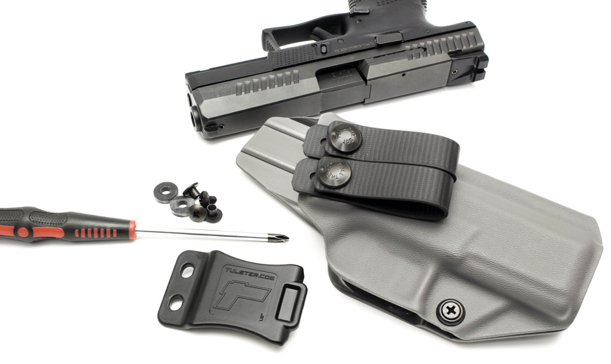 Tulster IWB Profile Kydex Holster for CZ P-10 C_Adjustable Belt Clip and Loops