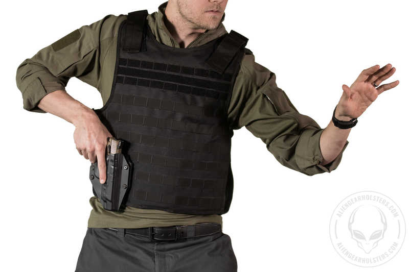 Alien Gear Holsters Cloak Mod MOLLE Worn on Vest