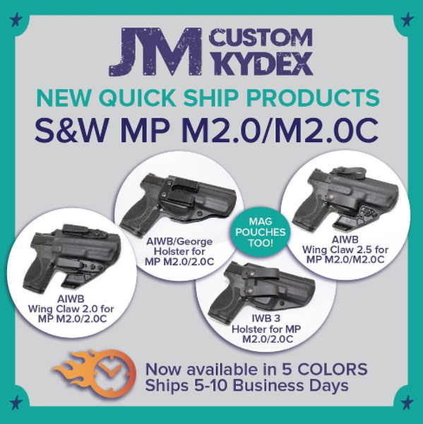 JM Custom Kydex S&W M&P M2 Quick Ship Holsters