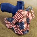 Wicked Leather Werkz American Flag Leather Holster