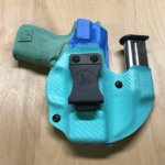 Wolf Pack AIWB Kydex Holster & Mag Carrier in Tiffany Blue Carbon Fiber