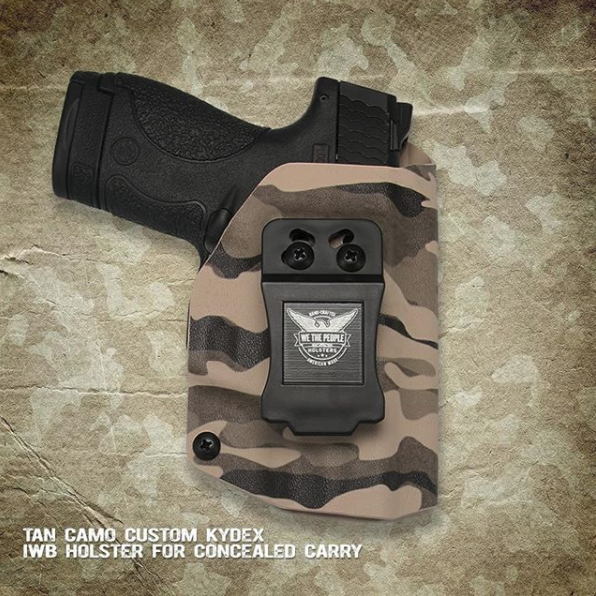 We The People Holsters Tan Camo Custom Kydex IWB Holsters