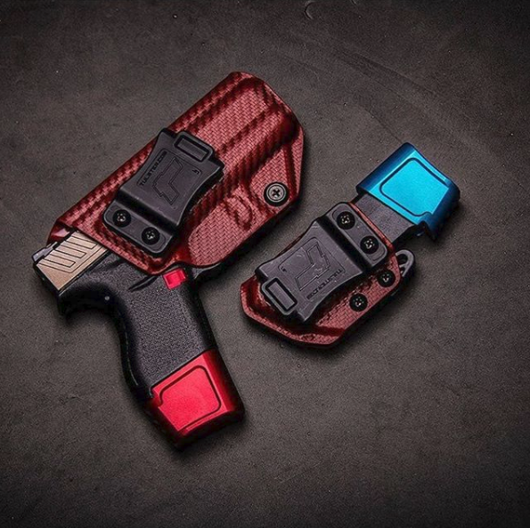 Tulster Blood Red Carbon Fiber Holster and Echo Mag Carrier